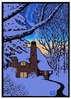 One of Laura Wilder's lovely block prints.