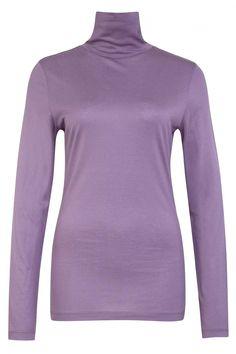 Drykorn Damen Langarmshirt Larni Lila | SAILERstyle Arm, Turtle Neck, Sweaters, Fashion, Lilac, Hot Pink Fashion, Cotton, Curve Dresses, Nice Asses