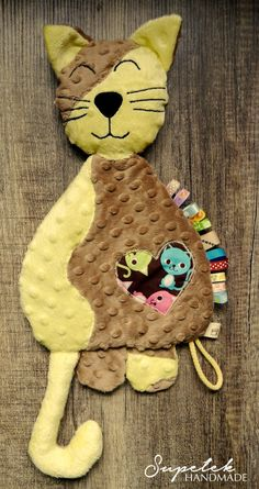 Cat Baby comforter toy cushion taggy taggie taggies by Supellek