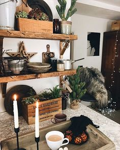 Filled with vintage gems and small Instagram business finds in a monochrome home Modern Rustic, Modern Decor, Thing 1, Dark Interiors, Shelfie, Dried Flowers, Interior Inspiration, Home Accessories, Monochrome