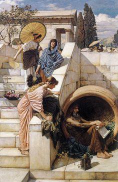 Diogenes    John William Waterhouse                                                                                                                                                                                 Más