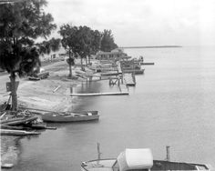 Florida Memory - Dock area - Card Sound, Florida