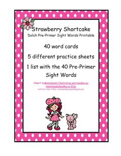 Strawberry Shortcake Site Words  $0.99