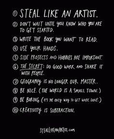 Steal like an artist, Austin Kleon, Um livro sobre criatividade