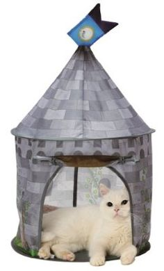 Necoichi Cat Tent (Morning Castle) Bed, Condo, Cave, House for CAT by >>> Check this awesome product by going to the link at the image. (This is an affiliate link and I receive a commission for the sales) Castle Bed, Cat Tent, Cat Room, Cat Supplies, Cat Furniture, Pet Beds, Cat Day, Pets, Cave