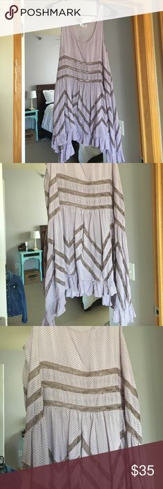 Selling this Free people lavender voile and trapeze dress! on Poshmark! My username is: supersweeta. #shopmycloset #poshmark #fashion #shopping #style #forsale #Dresses & Skirts
