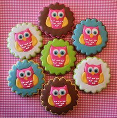 Owl cookies from Art of the Cookie