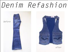 I've been wanting a jean vest - maybe I don't have to wait until I score one from the thrift store?