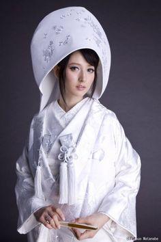 Japanese traditional wedding dress.