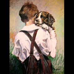 Springer spaniel puppy an original acrylic by kevinmeredith, $125.00