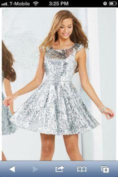I love sequined dresses!