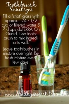 Toothbrush Sanitizer www.mydoterra.com/HealingInTheHome  For more great info you can find Healing In The Home of Facebook.