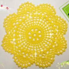 Embroidery For Beginners Fast And Very Easy Doily For Beginners - These free crochet doily patterns are suitable for beginners or more advanced crocheters and made using simple or more complicated crochet stitches. Crochet Dollies, Crochet Buttons, Thread Crochet, Crochet Crafts, Crochet Projects, Knit Crochet, Crochet Slippers, Filet Crochet, Irish Crochet