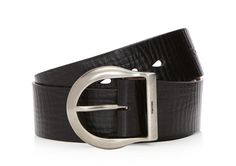 Leather Silver Horse Shoe Buckle Belt | Shop Tom Ford Online Store