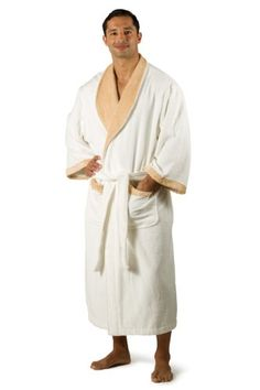 Men's Terry Cloth Bathrobe Robe (Milano); Texere EcoFriendly Gift Bamboo Viscose - List price: $120.00 Price: $53.99 Saving: $66.01 (55%)