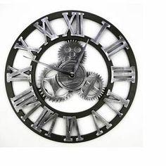 Household Shop® 3D Horloge Rouage murale en métal
