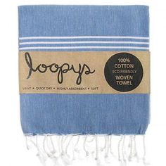 New Denim Colour Original Turkish Towel. Premium quality, made by Loopys