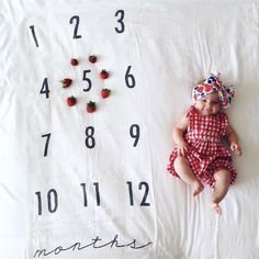 Monthly Milestone Blankets™ are the perfect way to track the growth of your baby through the first year of their life!