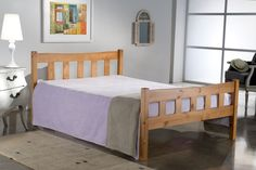 This Bonsoni Simple Style Double Miami Bed Frame Pine is a beautiful piece of Bed demostrating the Bonsonis unparallel quality and workmanship. This MIAMI BED PINE comes in 2 boxes. This Bonsoni Simple Style Double Miami Bed Frame Pine is Pine Bed Frame, Wooden Bed Frames, Wooden Beds, Small Double Bed Frames, Simple Bed Frame, Bed Centre, Bed Frames For Sale, Pine Beds, Ottoman Storage Bed