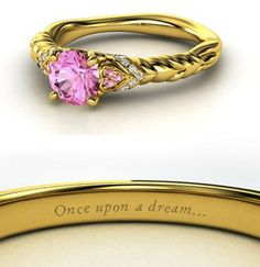 I want the engraving on the inside of my wedding band! disney-princess-rings-9