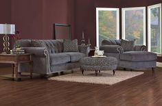 Flynn Stationary Living Room Group by Klaussner