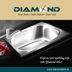 Express your sparkling style with ‪‎Diamond sinks‬! Explore more at www.diamondsink.in #KitchenSinks #SteelSink #Sink #Kitchen #SteelKitchenSink #DiamondSink