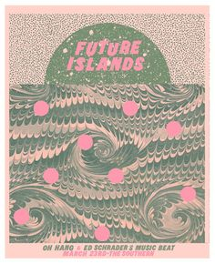 Future Islands concert poster by Thomas Dean Graphic Design Posters, Graphic Design Typography, Graphic Design Inspiration, Layout Design, Design Art, Print Design, Future Islands, Band Posters, Music Posters
