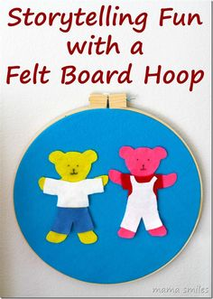 Build literacy skills and get kids thinking creatively with this cute and easy felt board hoop!