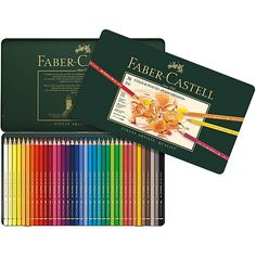 FABER CASTELL: Polychromos Colored Pencils Polychromos artists' colour pencils from Faber-Castell are of the highest quality. Their soft waterproof waxy leads are smooth and resistant to smudging. The