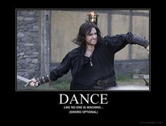 Just dance. But the sword actually isn't optional. If you want to be epic