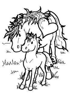 chevaux maman bébé