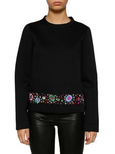 8604192bfe61 RED VALENTINO Red Valentino Embroidered Flowers Sweatshirt.  redvalentino   cloth
