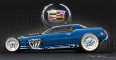Cadillac hot rod art