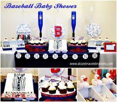 Baby Shower: Baby Shower Baseball As An Inspiration To Make Elegant Baby Shower…