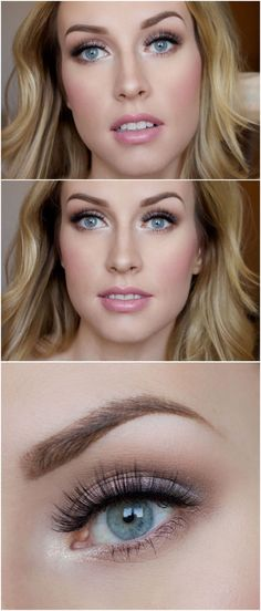 "Soft and super pretty bridal makeup - for those wanting a more ""natural"" finish http://thepageantplanet.com/category/hair-and-makeup/"