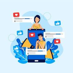 Social media marketing on mobile style F...   Free Vector #Freepik #freevector #design #template #phone #social-media Marketing Digital, Social Media Marketing Companies, Social Media Services, Guerilla Marketing, Social Media Icons, Mobile Marketing, Social Media Content, Street Marketing, Marketing Strategies