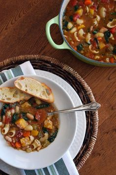 Ina Garten's Winter Minestrone. I can't say enough good things about this soup recipe…foolproof, hearty, comforting, but the proof is in the bowl. From Barefoot Contessa Foolproof: Rec… Best Ina Garten Recipes, Gourmet Recipes, Soup Recipes, Cooking Recipes, Gourmet Meals, Dinner Recipes, Ww Recipes, Summer Recipes, Drink Recipes