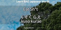 bad japanese words