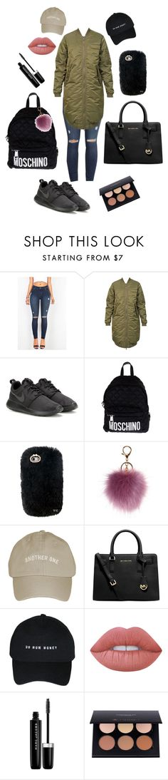 """""""School"""" by thehotline ❤ liked on Polyvore featuring 6397, NIKE, Moschino, Michael Kors, Lime Crime and Marc Jacobs"""