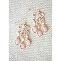 Breathtaking Beauty Earrings In Pink | Modern Vintage New Arrivals ($19) ❤ liked on Polyvore