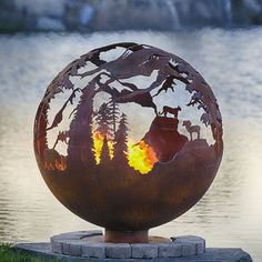 High Mountain 37 Hand Crafted Steel Fire Pit | WoodlandDirect.com: Outdoor Fireplaces,Fire Pit - Wood Burning, Fire Pit - Custom