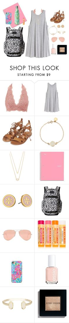 """""""First Day of Summer Classes"""" by xnicolemarieeeex on Polyvore featuring Charlotte Russe, H&M, Topshop, Marc by Marc Jacobs, Gorjana, Five Star, Tory Burch, Burton, Ray-Ban and Burt's Bees"""