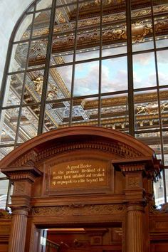 Buzzfeed places to read!! Underneath this comforting John Milton quote in the New York Public Library in Manhattan.