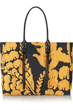 #LanvinLeather-trimmed printed canvas #tote