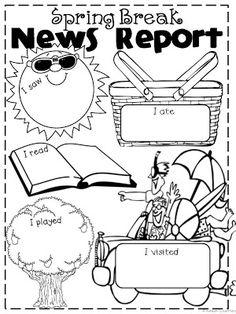Classroom Freebies Too: Spring Break News Report