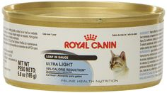 Royal Canin Feline Health Nutrition Ultra Light Loaf In Sauce canned cat food * Special cat product just for you. See it now! : Best Cat Food