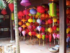 lantern shop in Hanoi, Vietnam