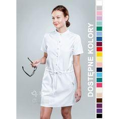 Sukienka Medyczna Hansa 0208 | Odzież damska | Dla lekarzy, farmaceutek i pielęgniarek. | Sklep internetowy Dersa |