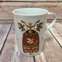Vtg Georges Briard Coffee Mug Bird Cage Tea Cup Signed   Collectibles, Vintage, Retro, Mid-Century, 1960s   eBay!