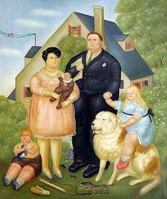 A Family - Fernando Botero